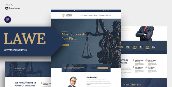 LAWE – Lawyer and Attorney Figma Template – 30601629 Free Download