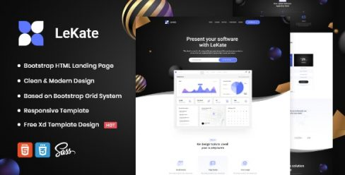 LeKate – Saas and Software HTML Landing Page – 26651167