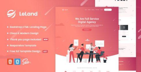 LeLand – Isometric Business HTML Landing Page – 26240112