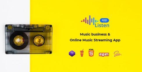 Listen – Online Music Streaming App – 23819080