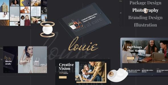 Louie – Modern Portfolio Theme for Agencies – 23067601 Free Download