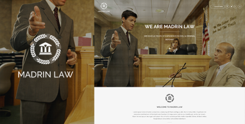 Madrin | One Page Law Firm HTML Template – 9623818