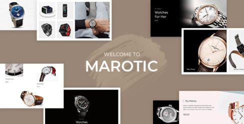 Marotic – Minimal & Clean Watch Store Shopify Theme – 25393530