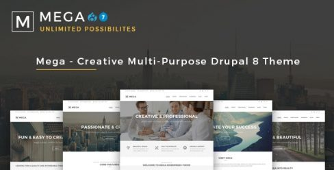 Mega – Creative Multi-Purpose Drupal 7 – 8.7 Theme – 16489591