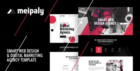Meipaly – Digital Services Agency PSD Template – 22910047