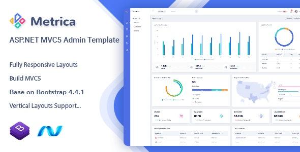 Metrica – ASP.NET MVC5 Admin & Dashboard Template – 29517699 Free Download
