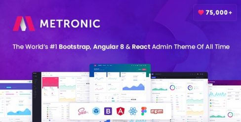 Metronic – Bootstrap 4, Angular 8, React Admin Dashboard Theme – 4021469