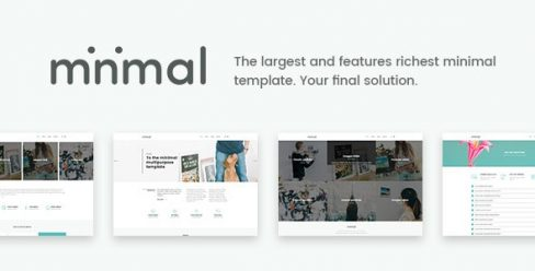 Minimal – White And Clean Joomla Template – 22744476