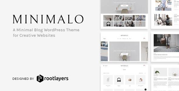 Minimalo – A Minimal Blog WordPress Theme for Creative Websites – 20468303 Free Download