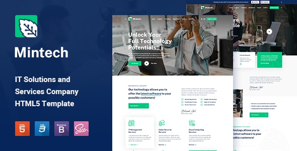 Mintech – IT Solutions & Services HTML5 Template – 29031466 Free Download