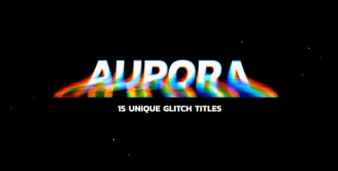 Modern Glitch Titles Aurora – 24740390
