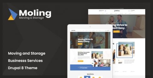 Moling – Responsive Business Service Drupal 8.7 Theme – 24191889