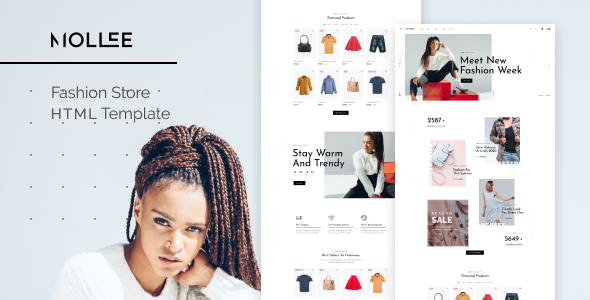 Mollee – Fashion Store HTML Template – 30585354 Free Download