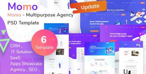 Momo – Multipurpose Agency PSD Template – 22873880