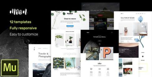 moon – Responsive Portfolio Adobe Muse Templates – 17070183