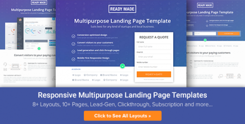Multipurpose Landing Page Template – ReadyMade – 10477881