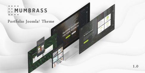Mumbrass – Full Screen Personal Portfolio Joomla! Template – 23137107