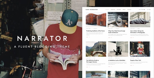 Narrator – A Fluent WordPress Blogging Theme – 22673183 Free Download