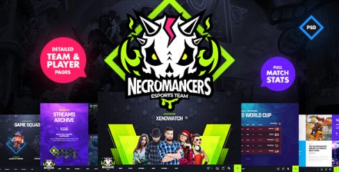 Necromancers – eSports Team PSD Template – 23212284