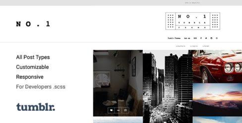 NO.1 | Creative Portfolio Tumblr Theme – 15264019