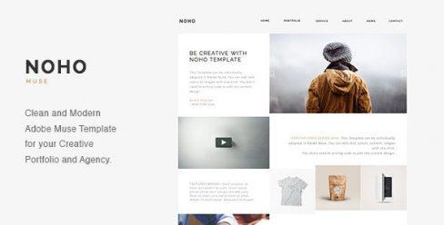 NOHO – Creative Agency Portfolio Muse Template – 11174979