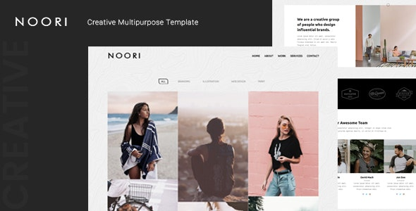 Noori – Creative Multipurpose Template – 25030344 Free Download