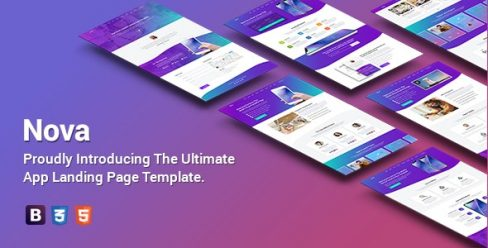 Nova – Premium App Landing Page Template – 22980856