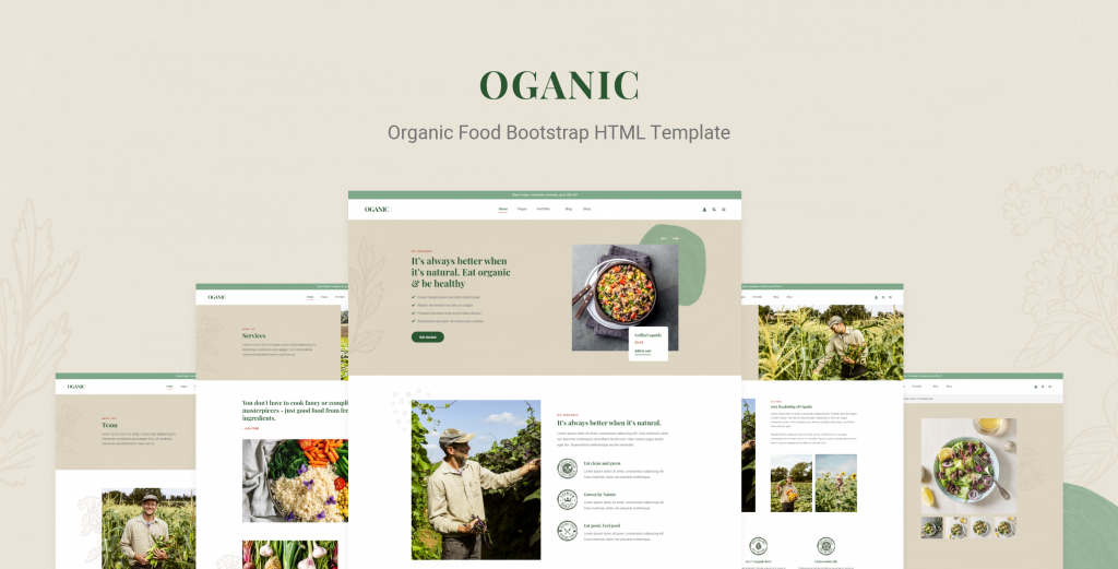 Oganic – Organic Food Bootstrap HTML Template – 30819952 Free Download