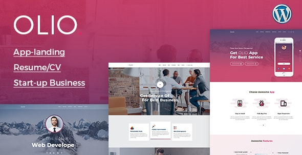 Olio – One Page – 20487826 Free Download