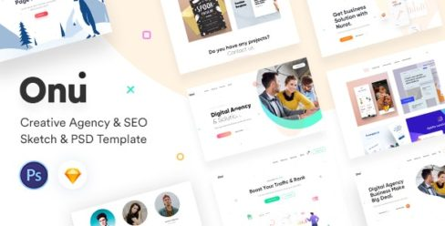 Onu – Creative Agency Sketch & PSD Template – 23446979