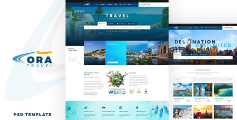 Ora | Travel & Hotel Booking PSD – 22967549