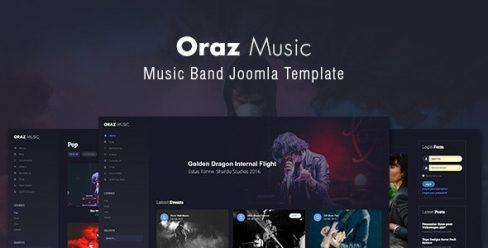 Oraz – Music Band Joomla Template – 22834589