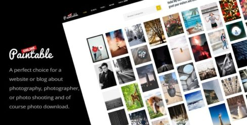 Paintable – Photography and Blog / Photos Download WordPress Theme – 20210644