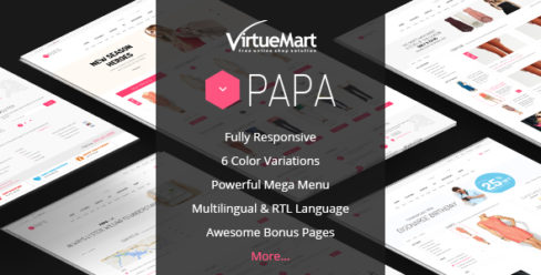 Papa – Responsive Multipurpose VirtueMart Template – 8347950