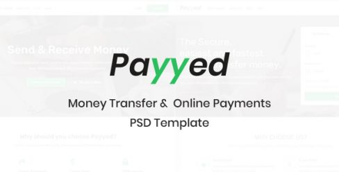 Payyed – Money Transfer & Online Payments PSD Template – 23098676