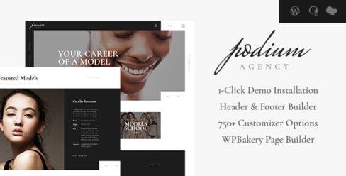 Podium | Fashion Model Agency WordPress Theme – 22137912
