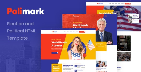 Polimark – Election and Political HTML Template – 29653730 Free Download
