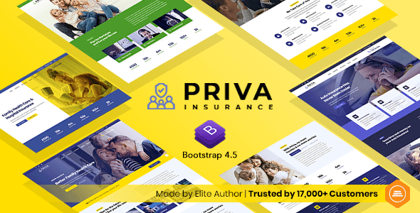 Priva – Insurance Company Website Template + RTL Support – 30407269 Free Download