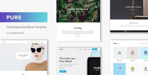 Pure – Responsive Creative Portfolio Muse Template – 14342575