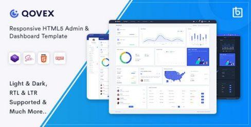 Qovex – Admin & Dashboard Template – 26352051