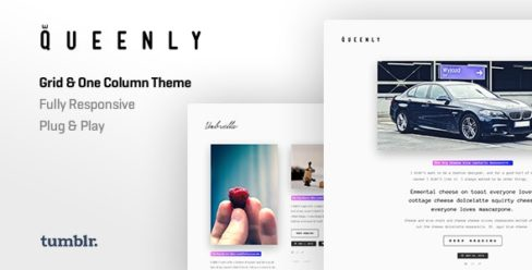 Queenly | Grid & One Column Tumblr Themes – 13813968