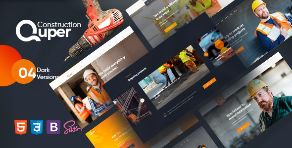 Quper – Construction HTML5 Template – 28541706 Free Download