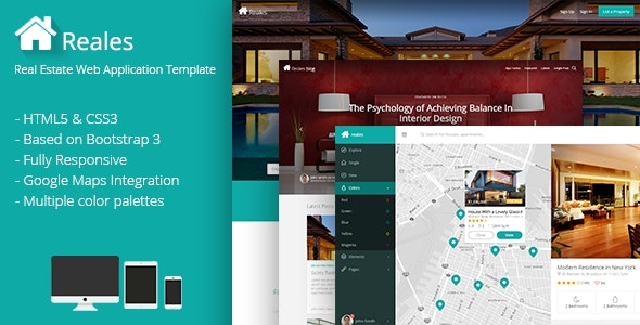 Reales – Real Estate Web Application Template – 9135762 Free Download
