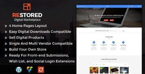 Restored MarketPlace – WordPress Theme – 17160546