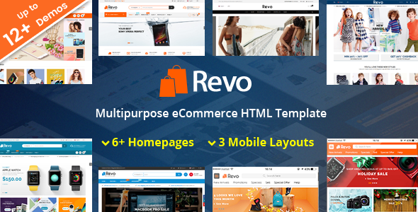 Revo – Responsive MultiPurpose HTML 5 Template (Mobile Layouts Included) – 21520243 Free Download