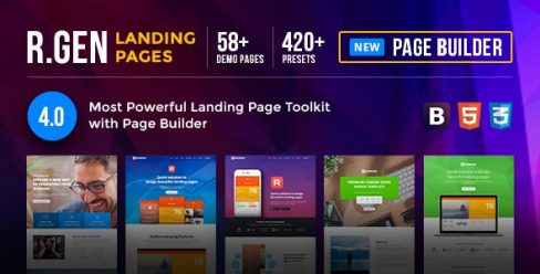 RGen | HTML Landing Pages with Builder – 13244840