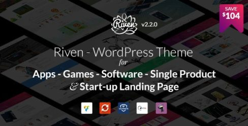 Riven – WordPress Theme for App, Game, Single Product Landing Page – 15894202