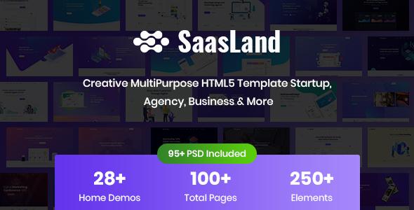 SaasLand – Creative HTML5 Template for Saas, Startup & Agency – 22712080 Free Download