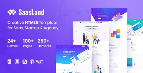 SaasLand – Creative HTML5 Template for Saas, Startup & Agency – 22712080