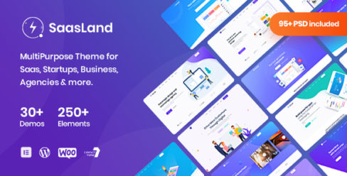 Saasland – MultiPurpose WordPress Theme for Startup Business – 23362980